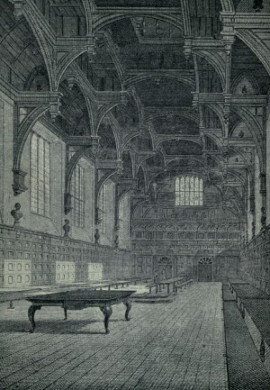 Middle Temple Hall, Inns of Court, in the early 17th century