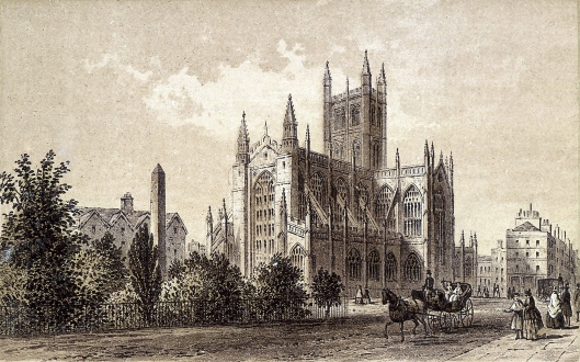Bath Abbey (via Wikipedia): site of many Bushell and Collibee births, marriages and burials