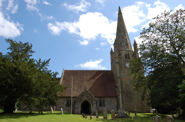 Parish church, Chiddingly (via geograph)