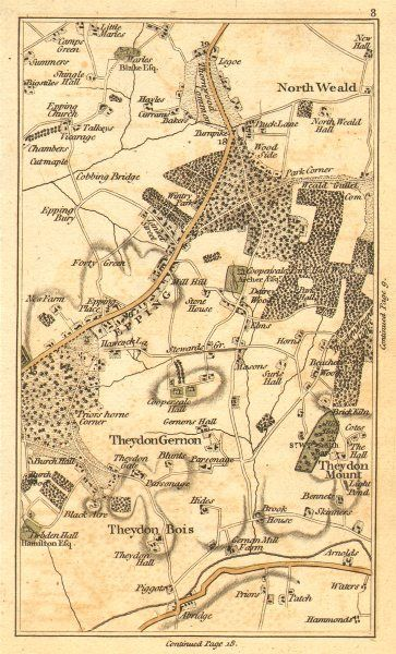 1786 map of the Epping area, Essex