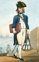 A midshipman or apprentice naval officer (Thomas Rowlandson, c. 1799, via en.wikipedia.org)