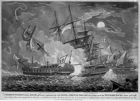 HMS Jason capturing French frigate La Seine, 1798