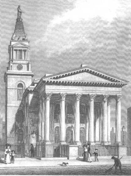 Parish church of St George, Bloomsbury (via londonancestor.com)