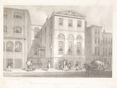 Cordwainers Hall, Distaff Lane (via museumoflondon.org.uk)