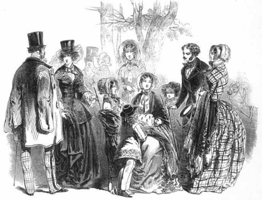 Early Victorian fashions from Graham's Magazine, 1848