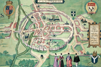 16th century street plan of Canterbury (via www.spab.org.uk)