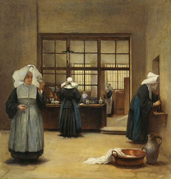 17th century nuns (via wikimedia)
