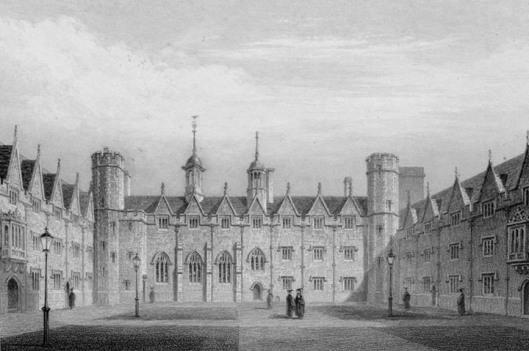 St John's College, Cambridge, in 1842 (via victorianweb.org)
