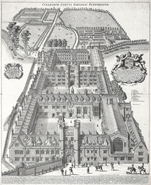 St John's College, Cambridge, from an engraving c.1685