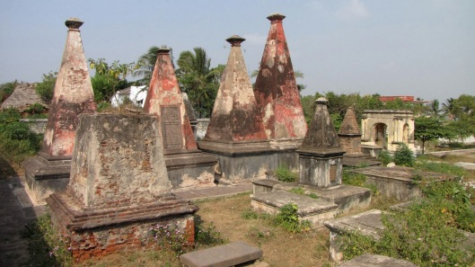 Tombs in the Old Cemetery at Visakhapatnam (via schickrobert.blogspot.com)