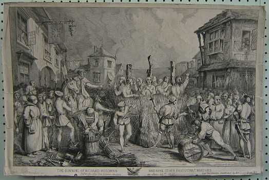 The burning of Richard Woodman and other protestant martyrs in Lewes in 1557