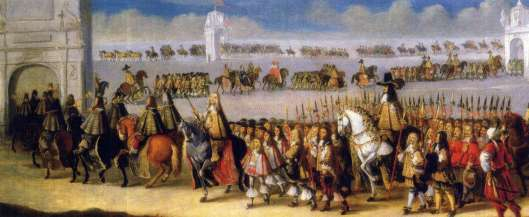The coronation of King Charles II