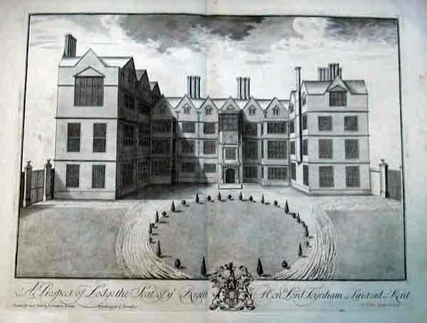 Early etching of Lynsted Lodge