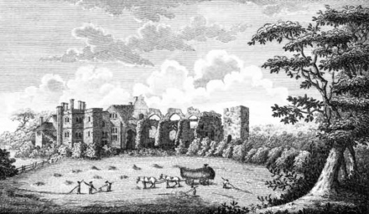 Ruins of Mayfield Palace in the 18th century (via theweald.org)