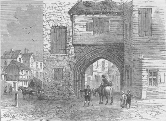Southwark priory buildings in about 1700