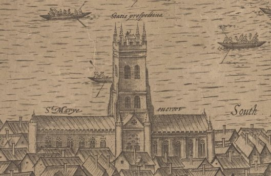 St Mary Overy, from the Norden Map
