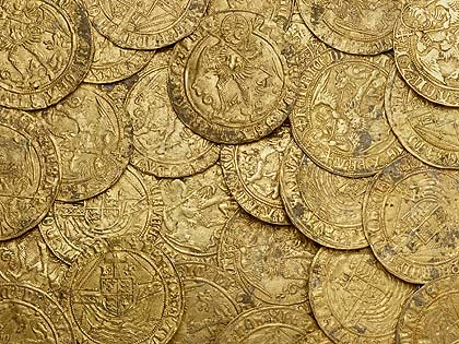 Tudor coins (via http://www.culture24.org.uk)