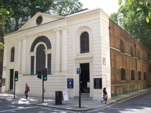 St Botolph Aldersgate today (via Wikipedia)