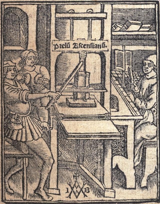 Sixteenth-century printing press