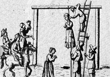 A public execution in 16th century Engand