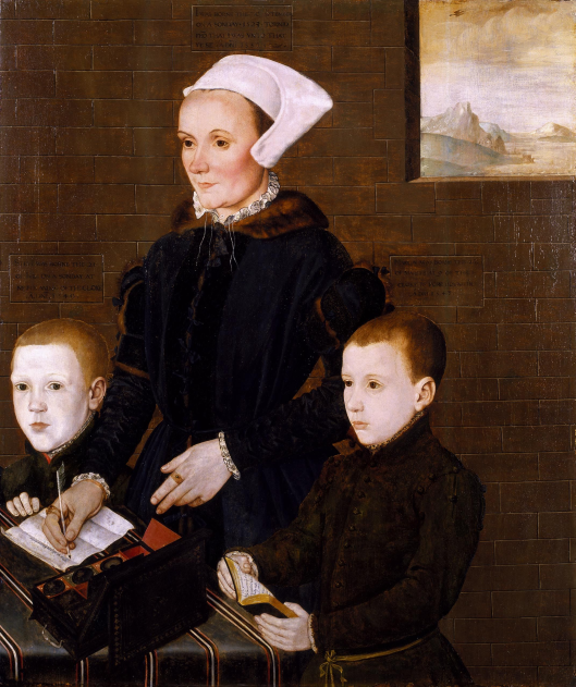Martin Barnham, future Sheriff of Kent (right), with his mother and brother (via wikimedia)