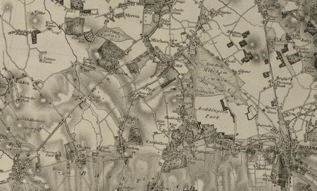 Old map showing Mitcham and Carshalton (via visionofbritain.org.uk)