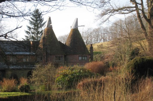 Oast house at Old Sharnden Manor Farm