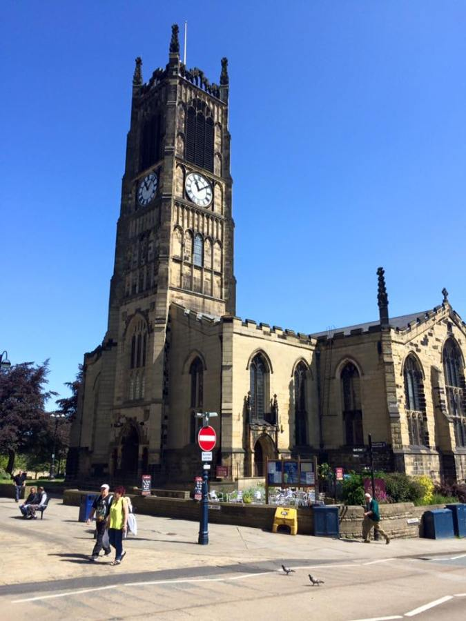 Parish church of St Peter, Huddersfield, where some of my Mortimer ancestors were christened, married and buried.