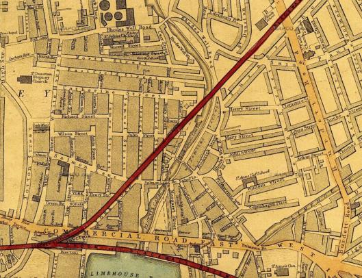1868 map Salmon Lane Limehouse